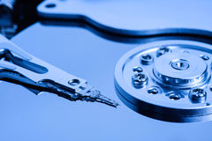 Open Harddisk blue close up Royalty Free Stock Photography