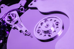 Open Harddisk Purple close up Royalty Free Stock Image