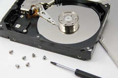 Open harddrive Royalty Free Stock Images