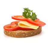 Open healthy sandwich with vegetable Stock Image