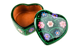 Open heart shaped box Stock Photo