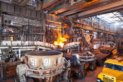 Open-hearth shop. Of metallurgical plant royalty free stock photography