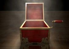 Open hefboom-in-de-Doos Antiquiteit royalty-vrije illustratie