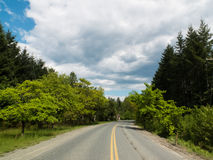 A twist in the road. Open highway in British Columbia, Canada Stock Photography