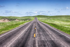 Open Highway On The Prairie Royalty Free Stock Image