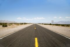 Death Valley Road Stock Photo