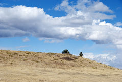 Open Hill Crest in Grassy Country Stock Photos