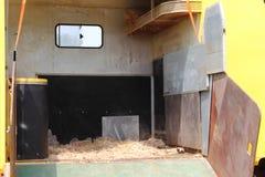 Horse transportation van. An open horse transportation van Royalty Free Stock Image