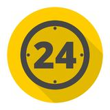 Open 24 hours icon. Vector icon Stock Images