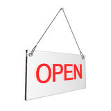 Open hours sign. Glass Open sign. Digitally generated image Royalty Free Stock Image