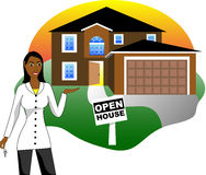 Open House with Agent Royalty Free Stock Photos