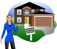 Open House with Agent Stock Photos