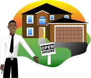 Open House with Agent Royalty Free Stock Image