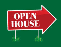 Open House Arrow Royalty Free Stock Images