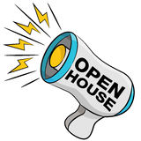 Open House Bullhorn Royalty Free Stock Photography
