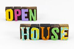 Open house business sign greeting marketing advertising