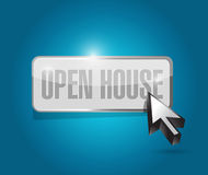 Open house button sign concept Royalty Free Stock Images