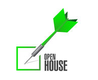 Open house check dart sign concept Stock Photo