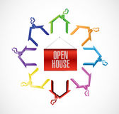 open house concept illustration design Stock Images