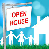 Open House Indicates Real Estate And Building Royalty Free Stock Photo