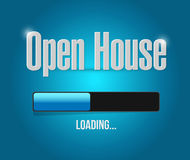 Open house loading bar sign concept Royalty Free Stock Photos