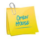 Open house memo post illustration design Stock Photo