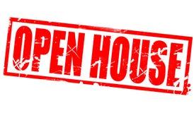 Open house in red frame stock illustration