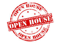 Open house. Rubber stamp with text open house inside,  illustration Royalty Free Stock Image