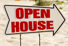 Open House Sign Royalty Free Stock Photo