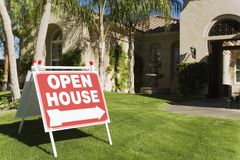 Open House Sign Royalty Free Stock Photos