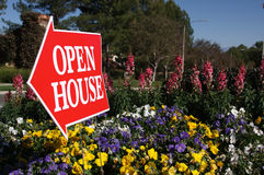 Open House Sign Stock Image