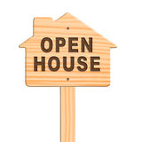 Open house sign, clipping path. Stock Photography