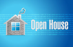 Open house sign concept illustration Stock Photo