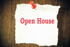 Open house stock images