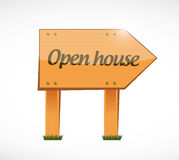 Open house wood sign concept Royalty Free Stock Image