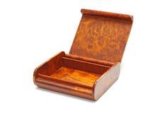 Open houten geïsoleerde doos Royalty-vrije Stock Afbeeldingen