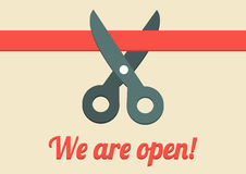 We are open illustration Stock Photo
