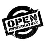 Open Immediately rubber stamp Royalty Free Stock Image
