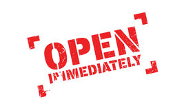 Open Immediately rubber stamp Royalty Free Stock Photography
