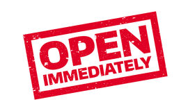 Open Immediately rubber stamp Stock Images