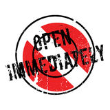 Open Immediately rubber stamp Royalty Free Stock Photos