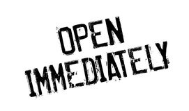 Open Immediately rubber stamp Royalty Free Stock Images