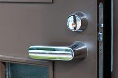 Open iron brown door Royalty Free Stock Images