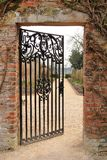 An Open Iron Gate Royalty Free Stock Photography