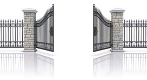 Open iron gate Royalty Free Stock Photography