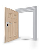 Open isolated doorway frame vector. Illustration Royalty Free Stock Photos