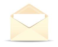 Open ivory envelope Royalty Free Stock Photo