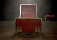 Open Jack-In-The-Box Antique Stock Photography