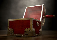 Open Jack-In-The-Box Antique Stock Image