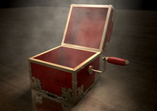 Open Jack-In-The-Box Antique Royalty Free Stock Photo